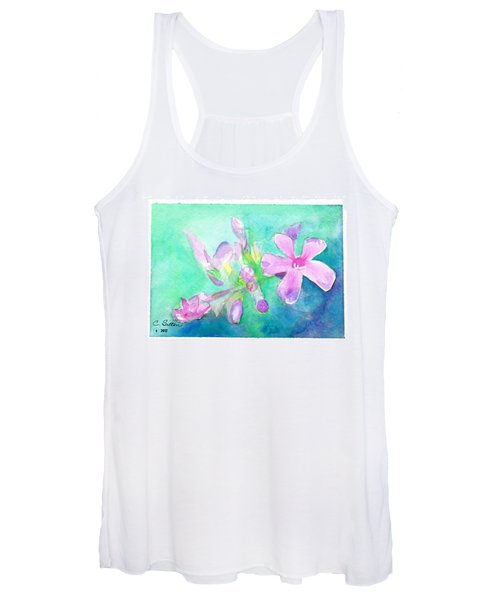 Tropical Flowers Women's Tank Top