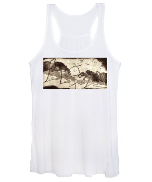 Two Ants In Communication - Etching Women's Tank Top