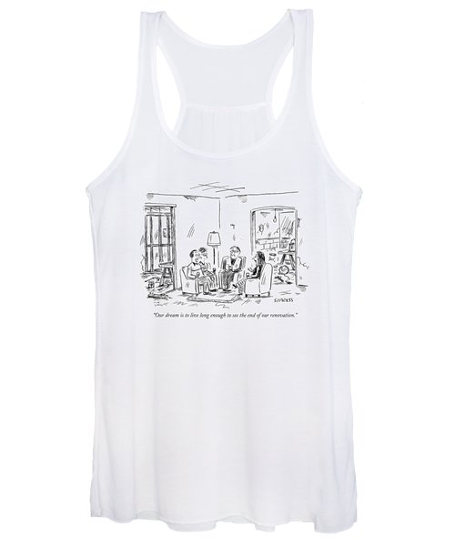 Two Couples Sitting In The Middle Of A House Women's Tank Top
