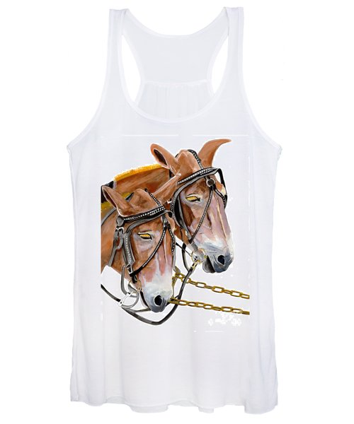 Two Mules - Enhanced Color - Farmer's Friend Women's Tank Top