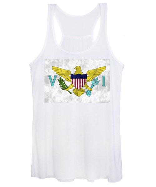 United States Virgin Islands Flag Women's Tank Top
