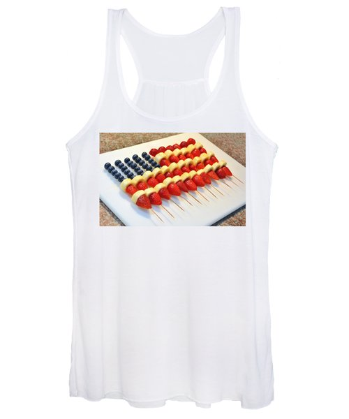 American Flag Fruit Kabobs Women's Tank Top