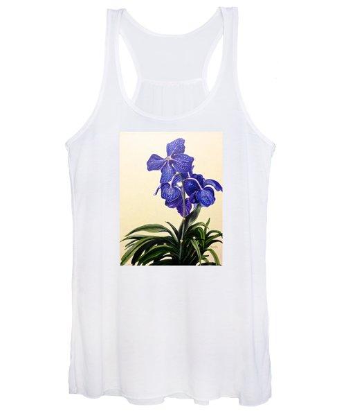 Vanda Sausai Blue Orchid Women's Tank Top