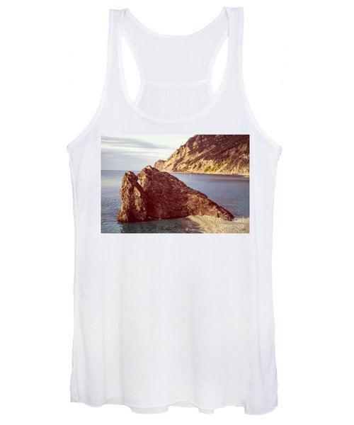 View From Beach Of Monterosso Women's Tank Top