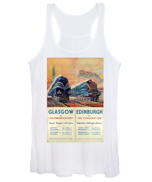 Vintage Train Travel - Glasgow And Edinburgh Women's Tank Top