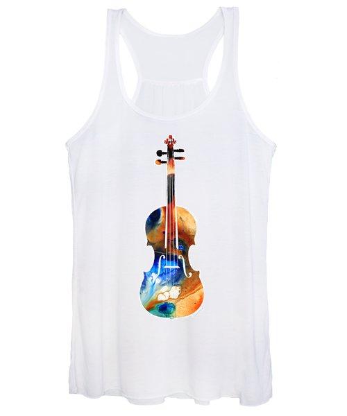 Violin Art By Sharon Cummings Women's Tank Top