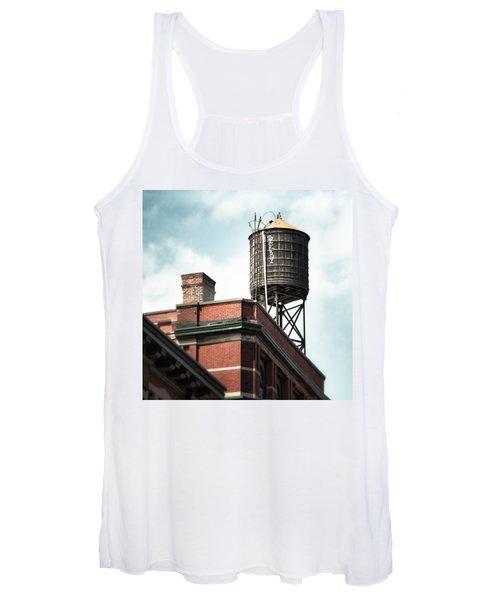 Water Tower In New York City - New York Water Tower 13 Women's Tank Top