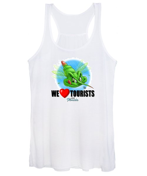 We Love Tourists Mosquito Women's Tank Top