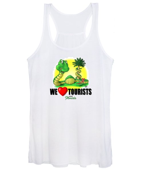 We Love Tourists Snake Women's Tank Top