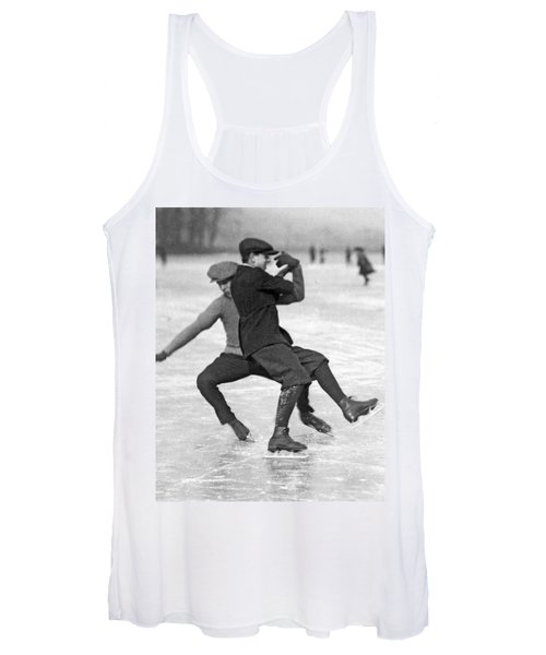 When Ice Skaters Collide Women's Tank Top