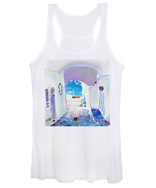 White And Blue 1 Women's Tank Top