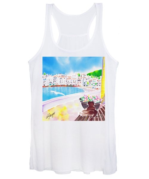 White And Blue 2 Women's Tank Top