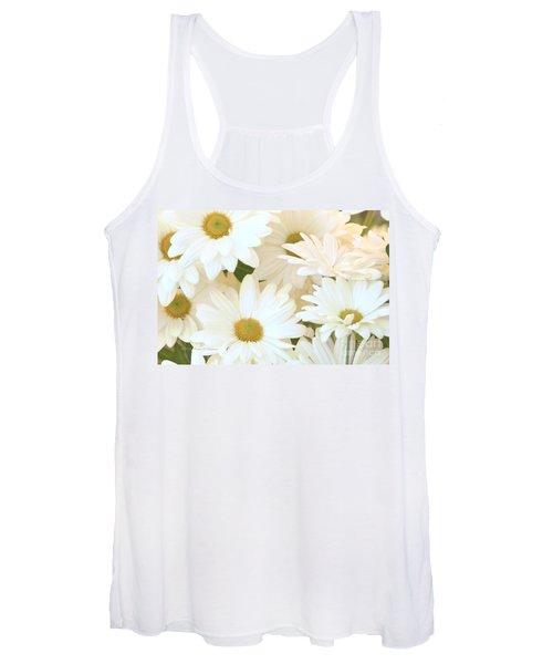 White Chrysanthemums Women's Tank Top