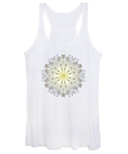 Giant White Dahlia I Flower Mandala White Women's Tank Top