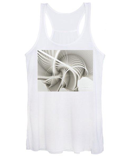 White Ribbons Spiral Women's Tank Top