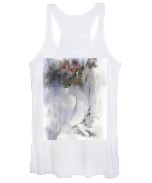 White Still Life Vase And Candlestick Women's Tank Top