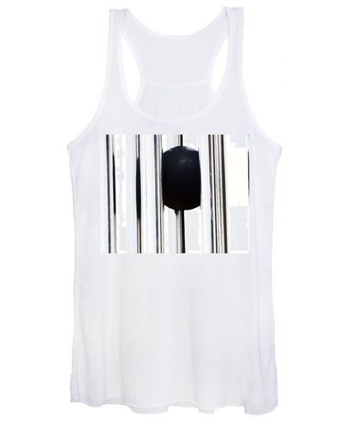 Wind Chime In Black And White Women's Tank Top