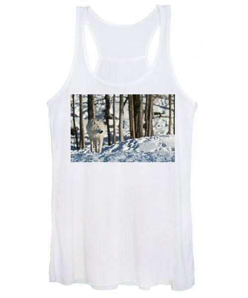 Winter Arctic Wolf Women's Tank Top