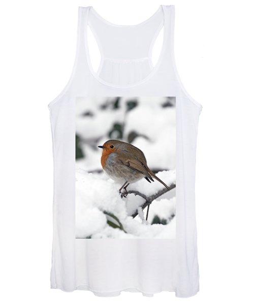 Winter Robin Women's Tank Top