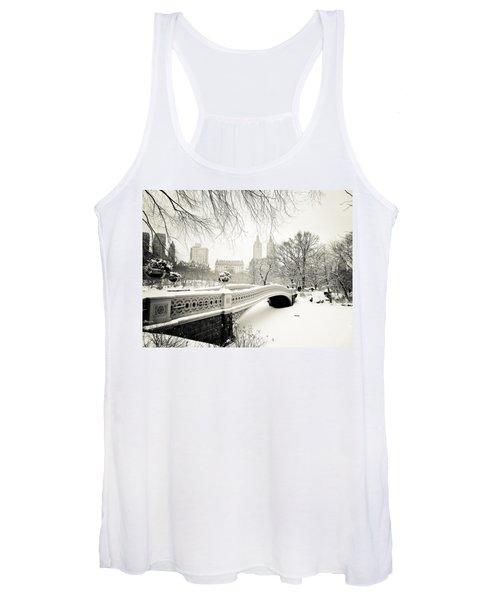 Winter's Touch - Bow Bridge - Central Park - New York City Women's Tank Top