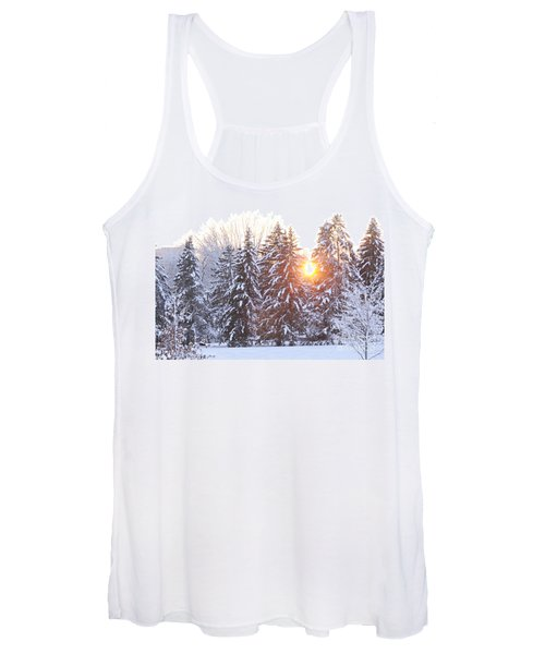 Wintry Sunset Women's Tank Top