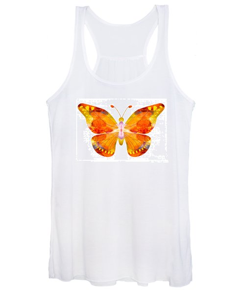 Wisdom And Flight Abstract Butterfly Art By Omaste Witkowski Women's Tank Top