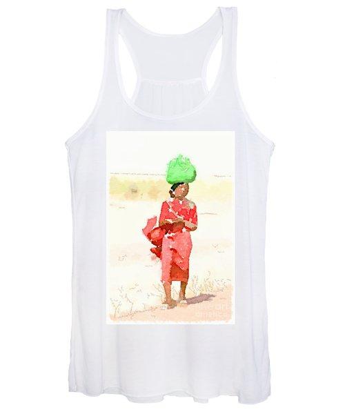Woman Bag Women's Tank Top