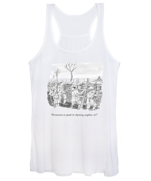World War I Soldiers Fire From Behind Trenches Women's Tank Top