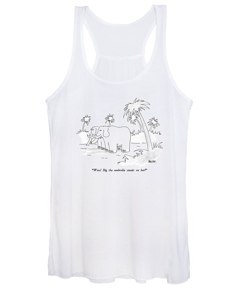 Wow!  Dig The Umbrella Stands On Her! Women's Tank Top