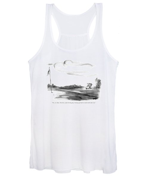 Yes, Sir, Dave. Out Here, Under The Big Sky Women's Tank Top