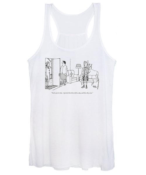 You're Just In Time.  I Permit Him Three Skirls Women's Tank Top