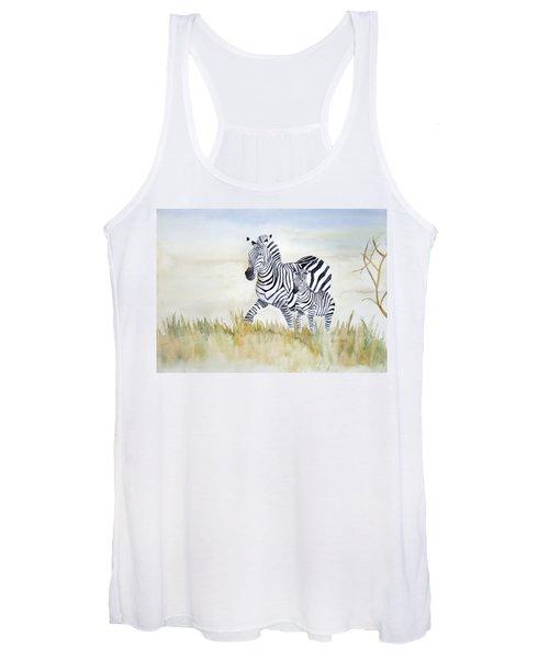 Zebra Family Women's Tank Top