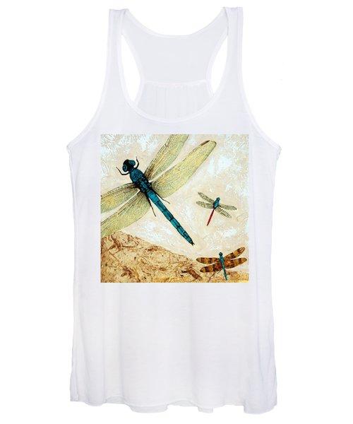 Zen Flight - Dragonfly Art By Sharon Cummings Women's Tank Top