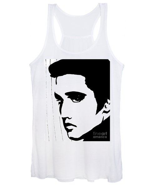 Elvis In Black And White Women's Tank Top