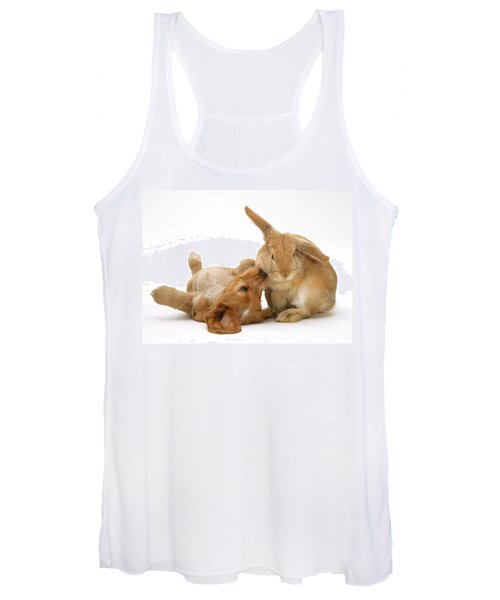Rabbit And Puppy Women's Tank Top