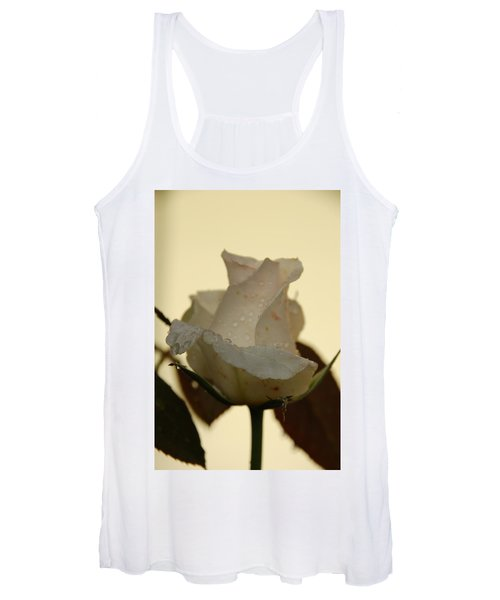A Single White Rose Women's Tank Top