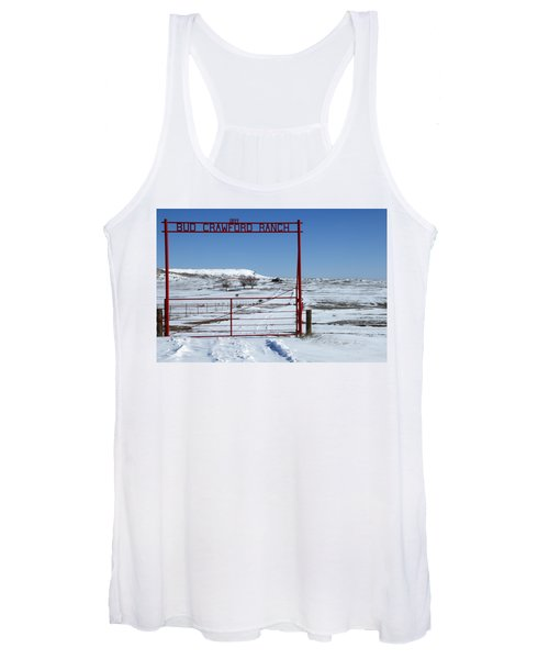 Another Snow On Crawford Ranch Women's Tank Top