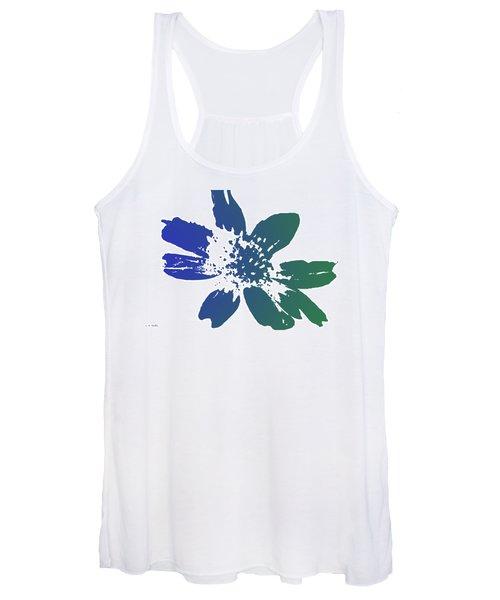 Blue In Bloom Women's Tank Top