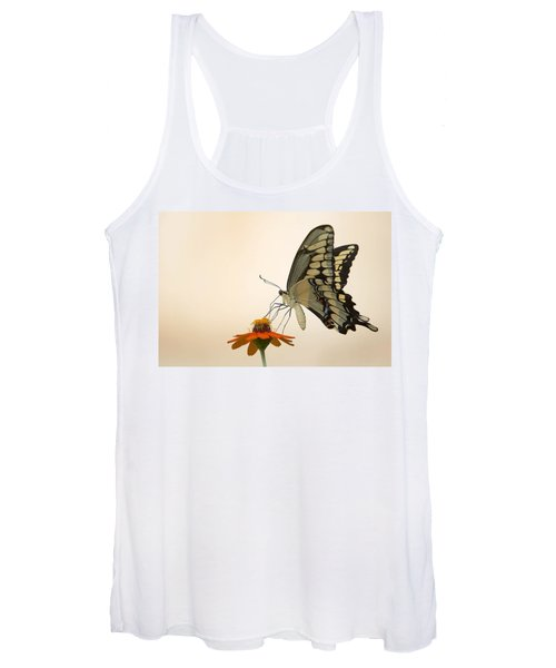 Butterfly And Flower Women's Tank Top