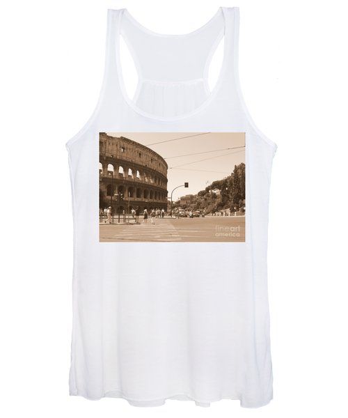 Colosseum In Sepia Women's Tank Top