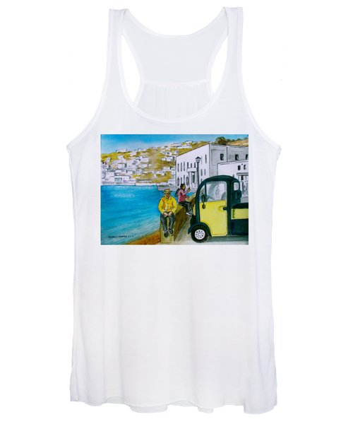 Greek Island Of Mykonis Women's Tank Top