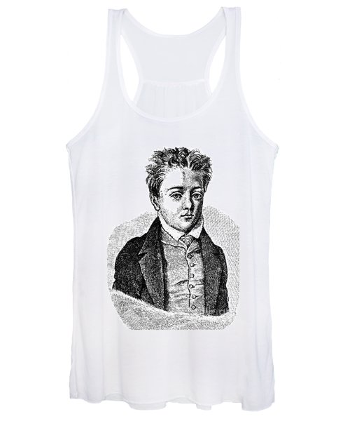 Gustave Flaubert, Age 10, French Author Women's Tank Top