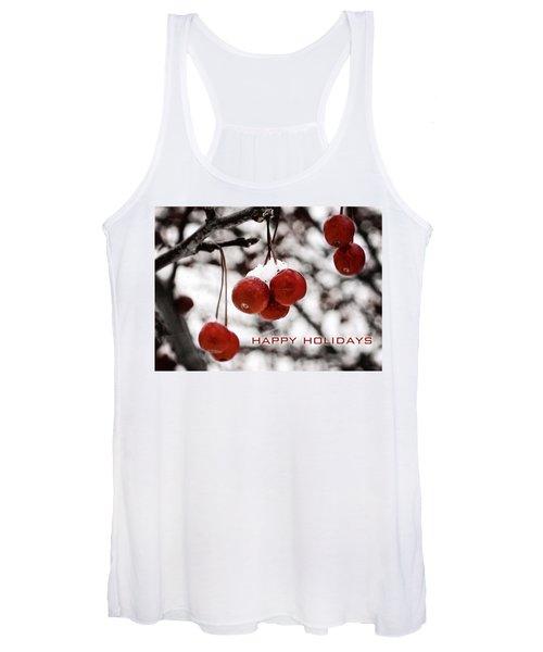 Happy Holidays Berries Women's Tank Top