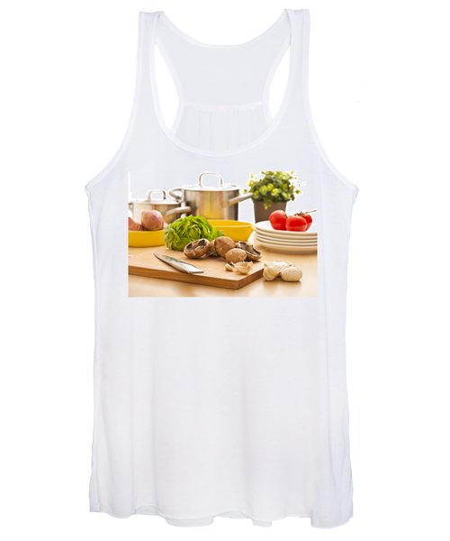 Kitchen Still Life Preparation For Cooking Women's Tank Top