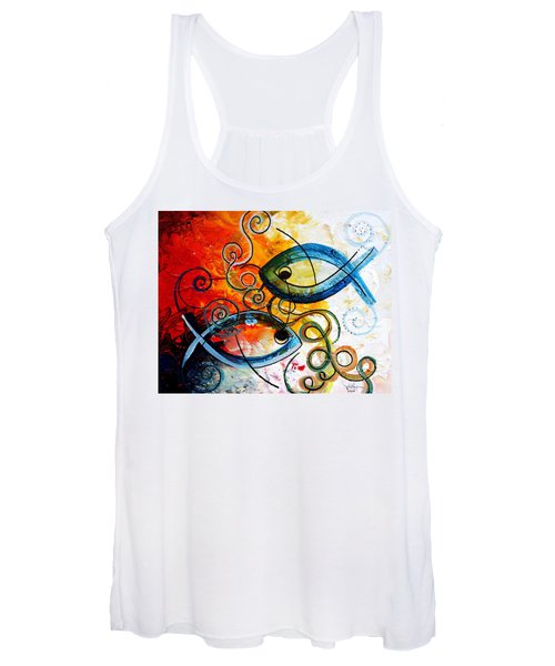 Purposeful Ichthus By Two Women's Tank Top