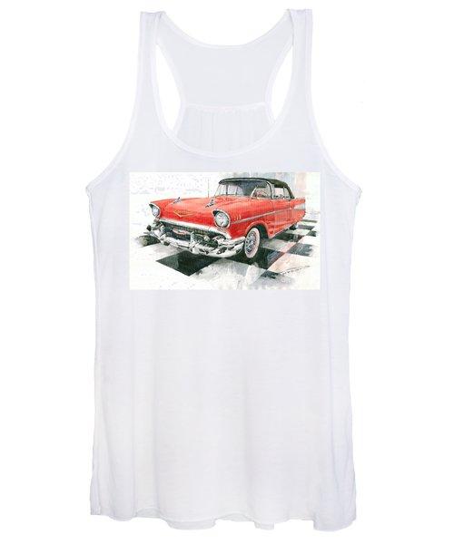 Red Chevrolet 1957 Women's Tank Top