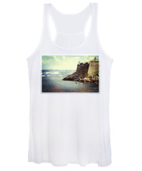 The Fort On The Harbor - La Coruna Women's Tank Top