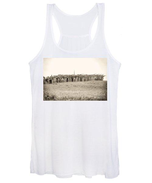 Gettysburg Confederate Infantry 0157s Women's Tank Top