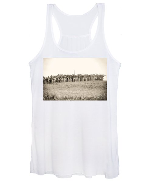 Gettysburg Confederate Infantry 0157s Women's Tank Top