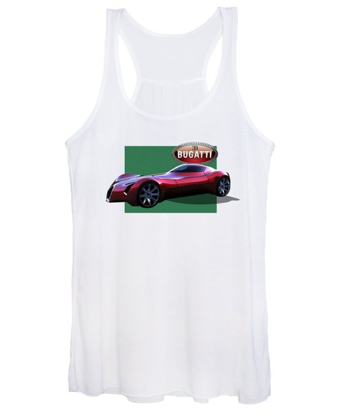 2025 Bugatti Aerolithe Concept With 3 D Badge  Women's Tank Top